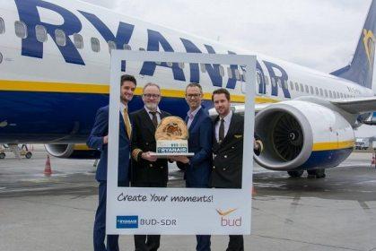 Ryanair continues summer season surge at Budapest Airport