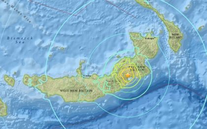 Another big earthquake strikes off Papua New Guinea
