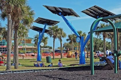 """Port Canaveral celebrates """"planting"""" of solar trees"""