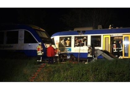 Two people killed, 10 injured in Bavarian two-train collision