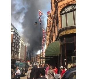 100 firefighters combating huge fire at London's Mandarin Oriental Hotel