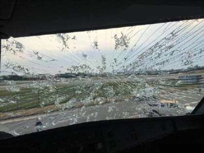 Tianjin Airlines jet makes emergency landing after hailstones shatter cockpit windscreens