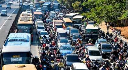 First thing visitors to Jakarta notice? Traffic!