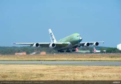 Up in the sky! First A380 for ANA