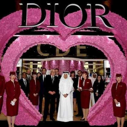 Dior and Qatar Duty Free launch Dior Les Parfums Podium at Hamad International Airport