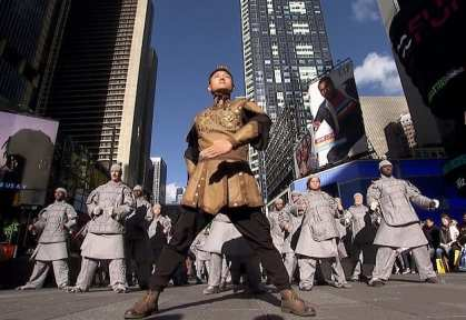 Xi'an terracotta warriors promote Xi'an culture and tourism in New York City