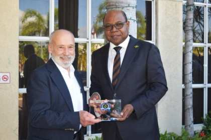 Jamaica Tourism Minister meets with Founder of International Institute for Peace through Tourism