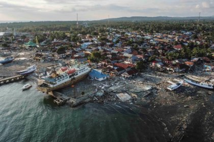 Deadly Tsunami hit Indonesian  coast in Lampung