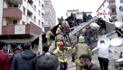 Dozens feared dead as 7-story building collapses in Istanbul