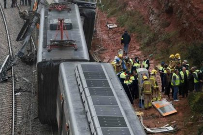1 killed, at least 76 injured in Catalonia two-train head-on collision