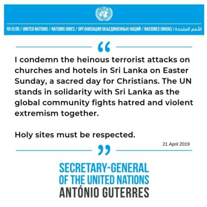 Sri Lanka gets a hug: Solidarity is pouring in from every corner of the world after an Easter Sunday of Terror
