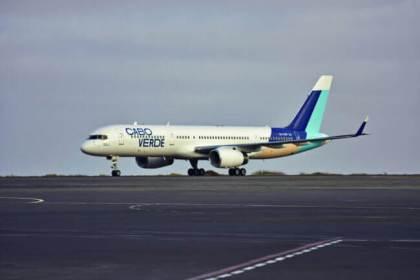 Praia de Santa Maria: Cabo Verde new livery landed