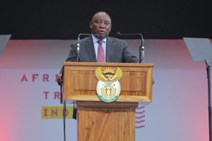 South Africa Tourism Ministry and African Tourism Board Officials meet and agree with SA President Cyril Ramaphosa