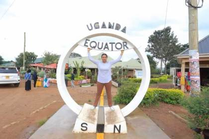 Uganda equator: One of the most well-known tourist landmarks in the country