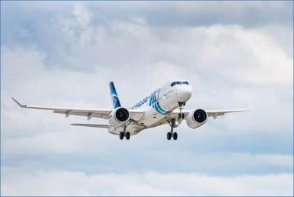 EgyptAir's first Airbus A220-300 takes flight