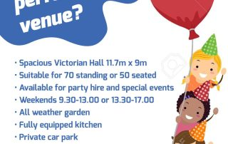 Weekend party hire poster
