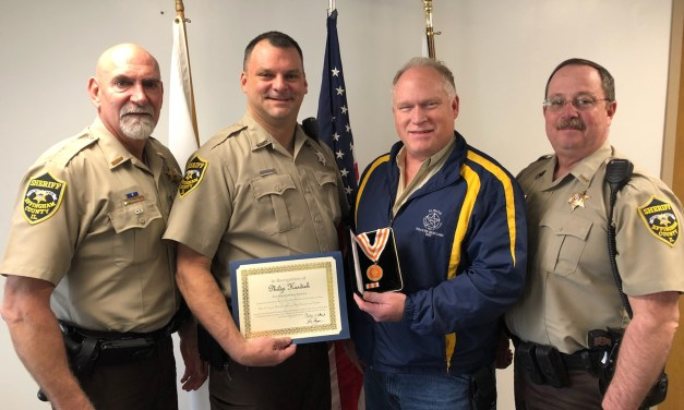 Deputy Hardiek honored for saving woman's life