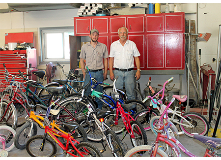 Joe Luchtefeld fixes bikes to give to kids