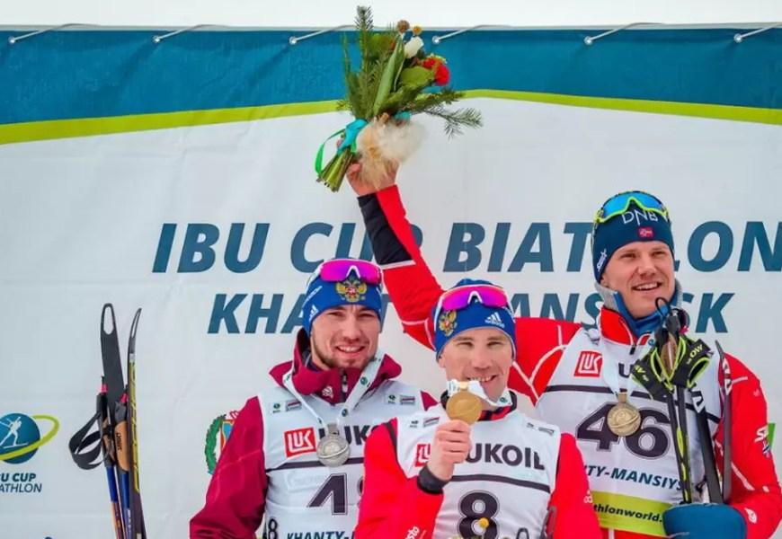 На кубке IBU в Ханты-Мансийске россияне взяли золото и серебро