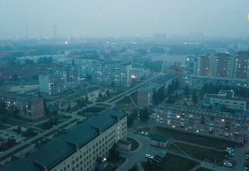 Нефтеюганск окутал смог от пожаров в Красноярском крае