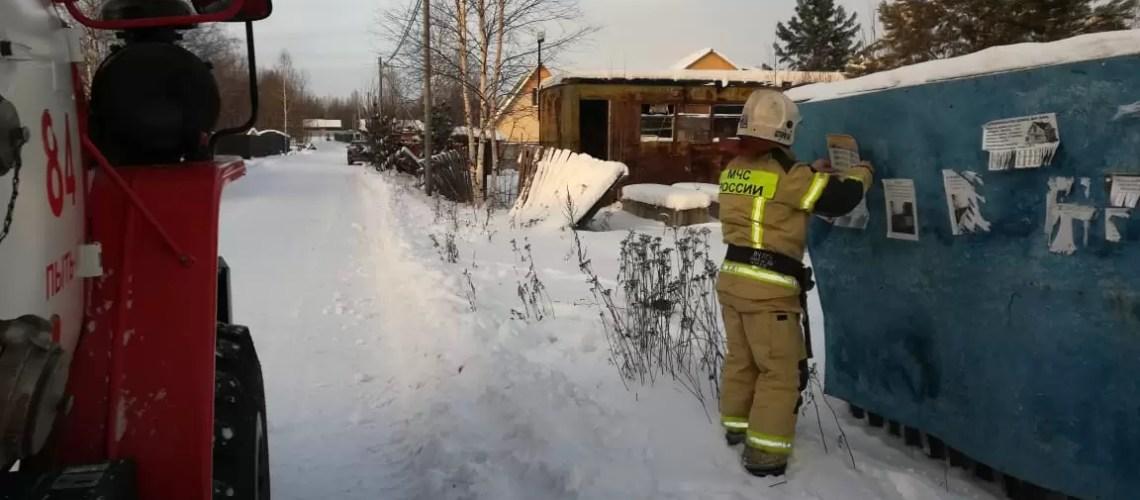 Спасатели ежедневно осуществляют патрулирование дачных, садово-огороднических обществ в новогодние праздники.