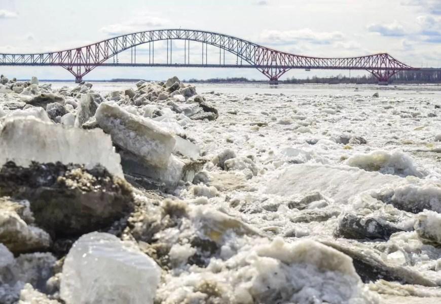 В Ханты-Мансийске начался ледоход на Иртыше