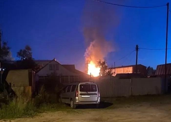 В сауне Нефтеюганска произошел крупный пожар