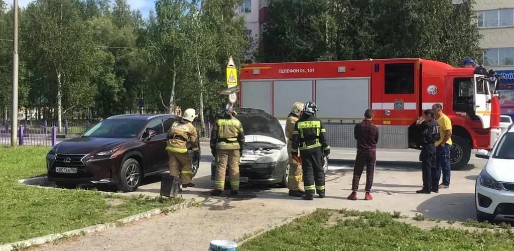 Сгорела машина в Нефтеюганске