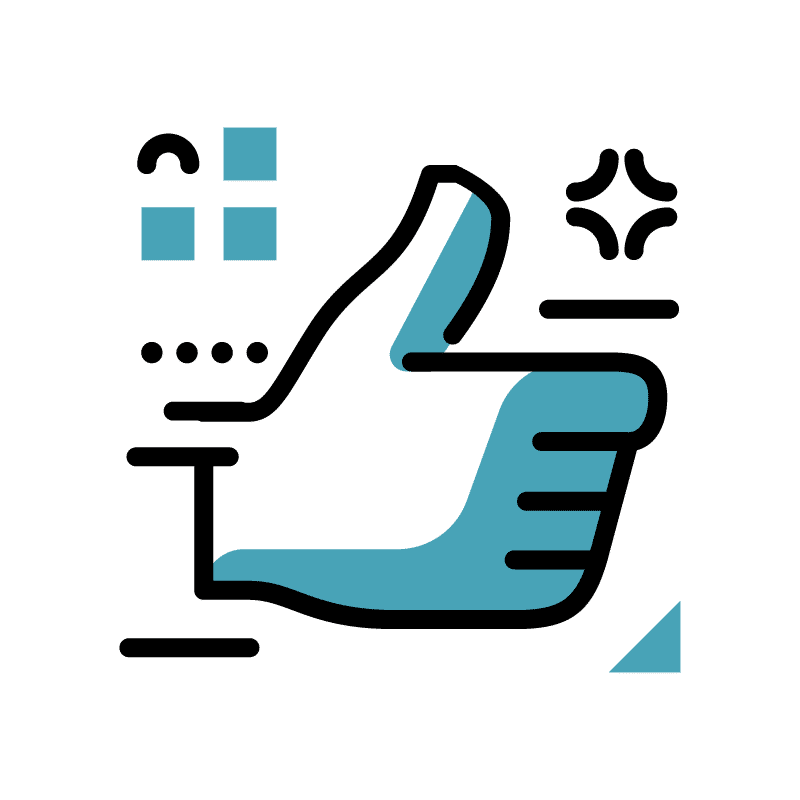 pictogramme main avec le pouce levé
