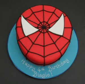 Spiderman Face Cake