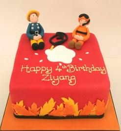 Fireman Sam and Thomas Cake