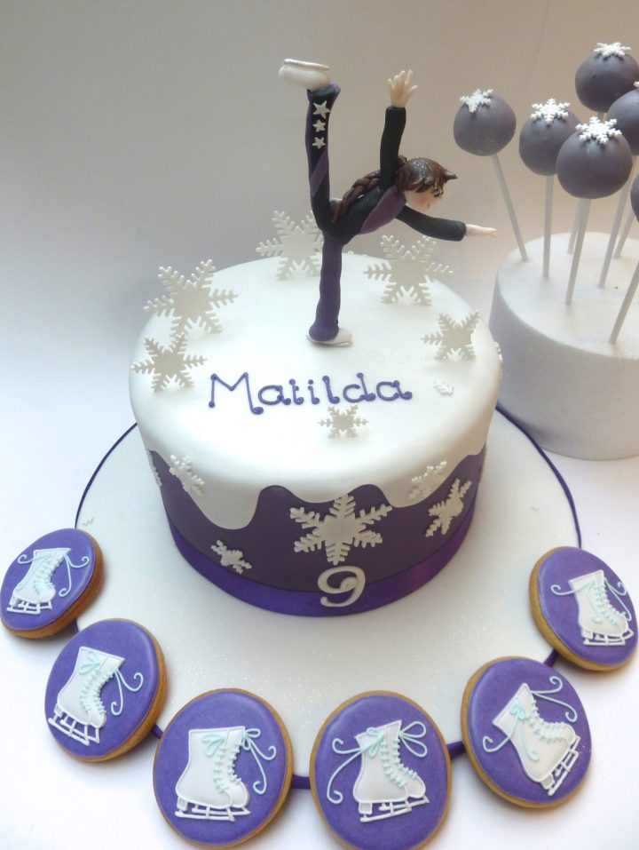 Ice Skating Cake and Cookies