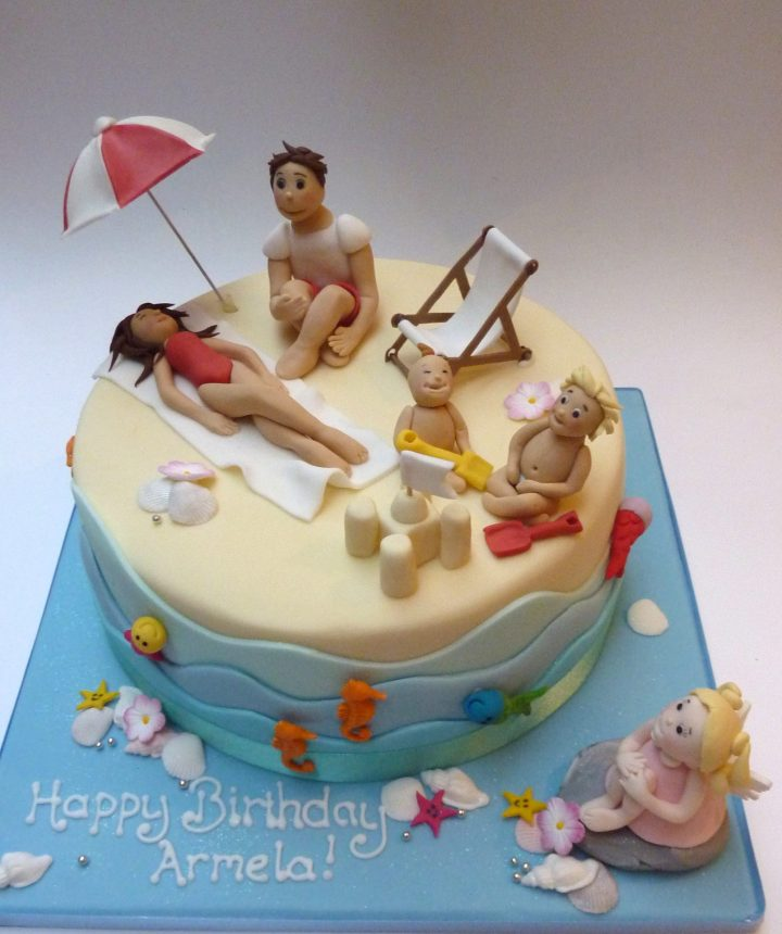 Seaside Beach Cake