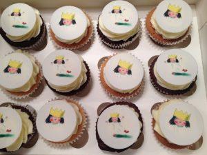 Little Princess Printed Cupcakes