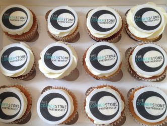 Printed Logo Cupcakes