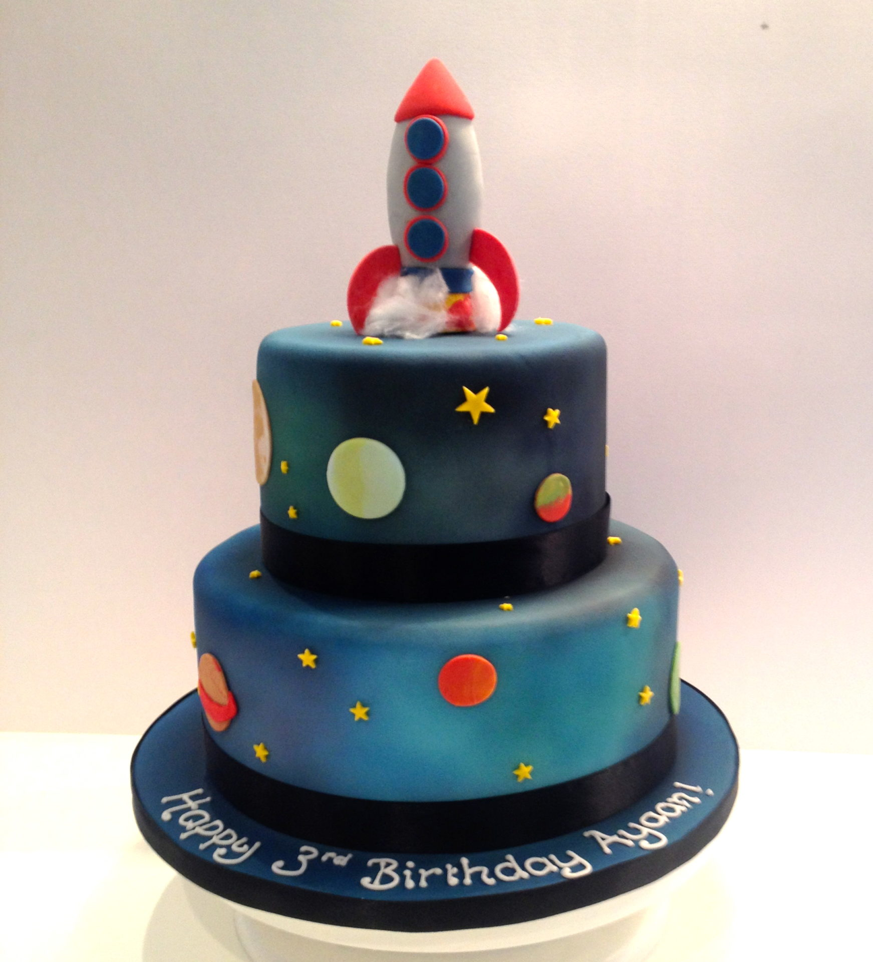 Tiered Rocket Space Cake Etoile Bakery