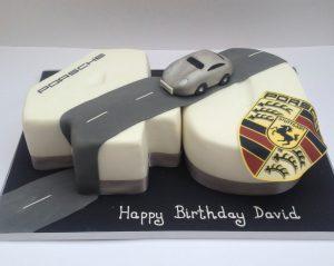 Porsche 40th Birthday Cake