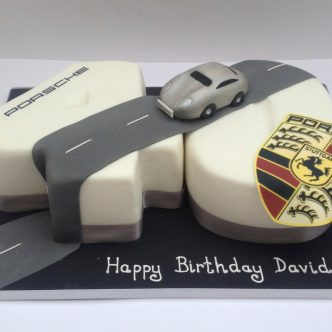 Porsche 40th Birthday Cake