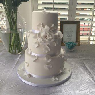 Falling Petals Wedding Cake