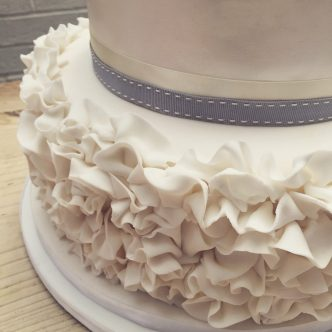 Ruffles on a Wedding Cake