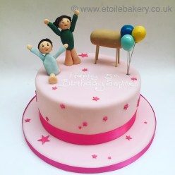 Gymnastics Birthday Cake
