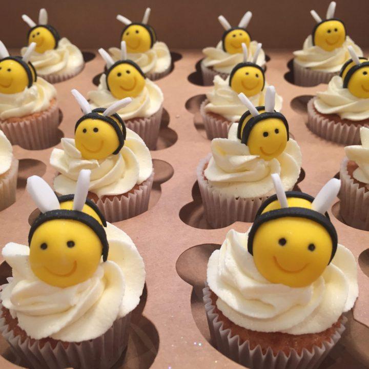 Bumble Bee Mini Cupcakes