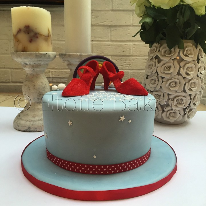 Sparkly Red Dancing Shoes Cake