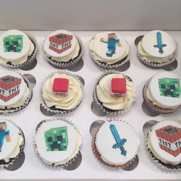 Mine craft cupcakes