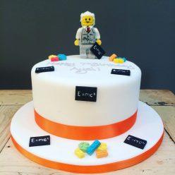 Einstein Lego Cake