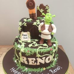 Shrek and Puss in Boots Cake