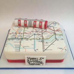 London Underground Tube Cake