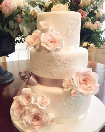 Sugar Rose Wedding Cake