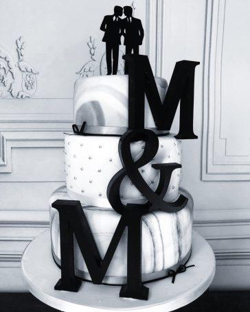 Monochrome and Marble Wedding Cake