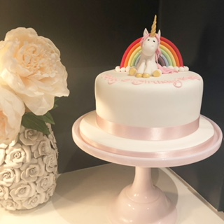 Unicorn Cake with Rainbow